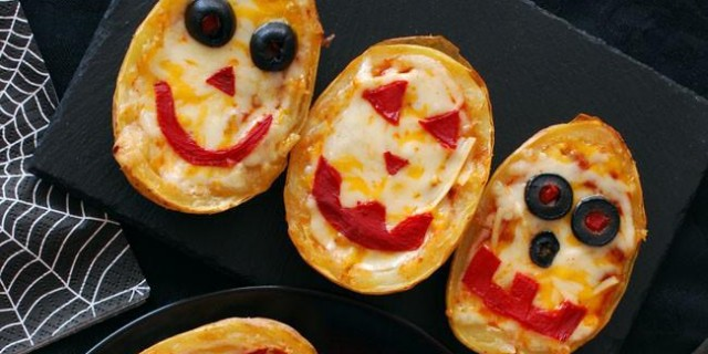 Receta de Halloween: patatas rellenas monstruosas